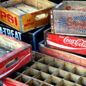 Old brandet crates